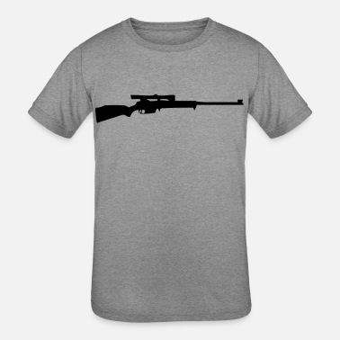 Scope Rifle with Scope - Kids' Tri-Blend T-Shirt