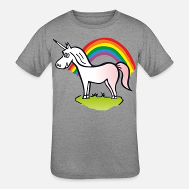 Rainbows And Unicorns Rainbow and Unicorn - Kids' Tri-Blend T-Shirt