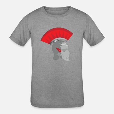 Roman Cross Roman helmet - Kids' Tri-Blend T-Shirt