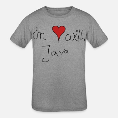 Java in Love with Java - Kids' Tri-Blend T-Shirt