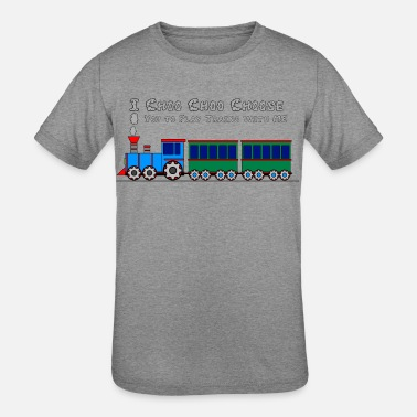 Toy Choo Choo Toy Train Design for Kids Shirts - Kids' Tri-Blend T-Shirt
