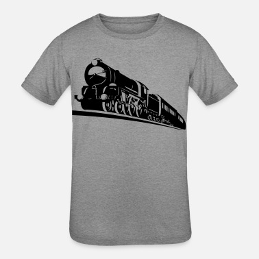 Bnsf train engine - Kids' Tri-Blend T-Shirt