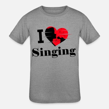I Love To Sing I love Singing / Singen / Gesang - Kids' Tri-Blend T-Shirt