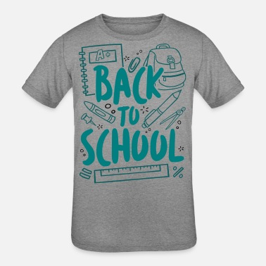First Day Of School Back to School - Kids' Tri-Blend T-Shirt