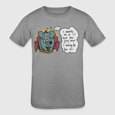 Elephant sitting on a couch - Kid's Tri-Blend T-Shirt