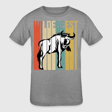 Funny Wildebeest - Large Wild Animal - Humor - Kid's Tri-Blend T-Shirt