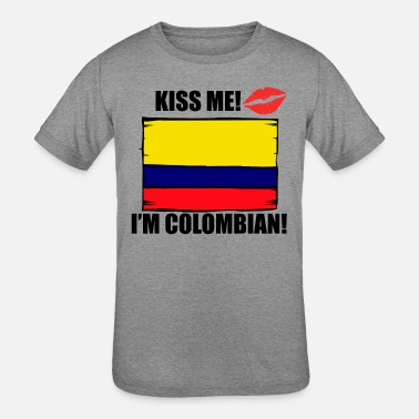 207231111a22 Colombian Designs Kiss Me I'm Colombian - Kids' Tri