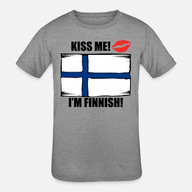 Finnish Design Kiss Me I'm Finnish - Kids' Tri-Blend T-Shirt