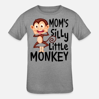 Mom s Silly Little Monkey - Kids' Tri-Blend T-Shirt