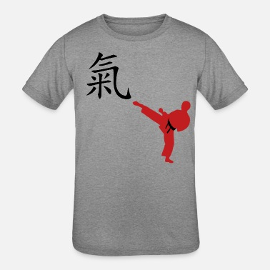 Meaning of Black Belt: Courage boys T shirt in - Kids' Tri-Blend T-Shirt