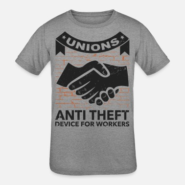 Labor Labor Union of America Pro Union Worker Protest Light - Kids' Tri-Blend T-Shirt