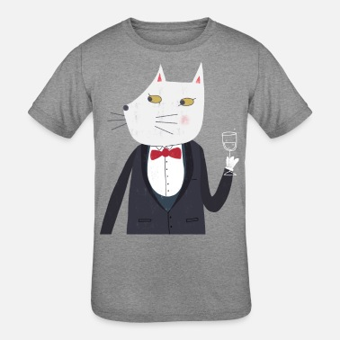 0ab99b2e6 Bow-tie-humor Cheers! Tuxedo Kitty Cat with Champagne Funny Art - Kids&