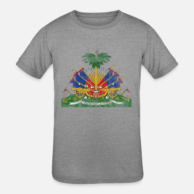 Made In Haiti Haitian Coat of Arms Haiti Symbol - Kids' Tri-Blend T-Shirt