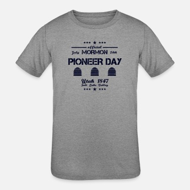 Utah-beehive-state Pioneer Day Utah July 24th 1847 Salt Lake Valley - Kids' Tri-Blend T-Shirt