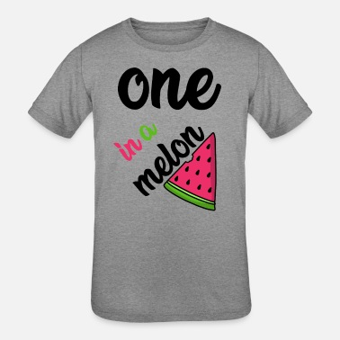 Melon One in A Melon Watermelon Fruit Gift - Kids' Tri-Blend T-Shirt