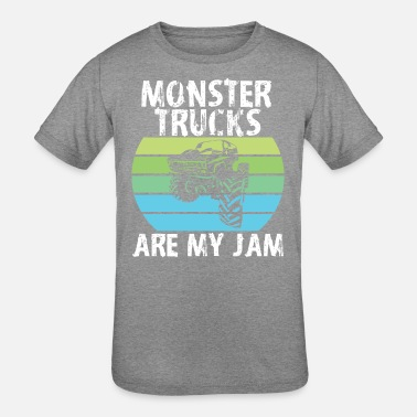 Monster Monster Trucks are my Jam - Kids' Tri-Blend T-Shirt