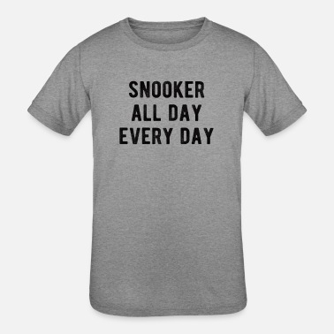 Shot POOL / BILLIARDS : Snooker all day - Kids' Tri-Blend T-Shirt