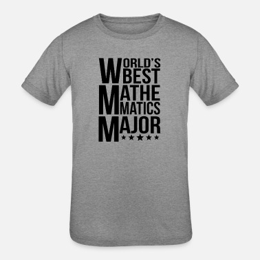 Mathematics World's Best Mathematics Major - Kids' Tri-Blend T-Shirt