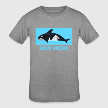 save orcas - Kid's Tri-Blend T-Shirt