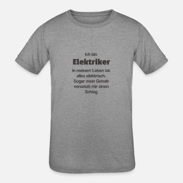 Salary Electrician salary - Kids' Tri-Blend T-Shirt