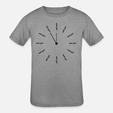 Reminder Clock that reminds you to eat all the time -French - Kids' Tri-Blend T-Shirt