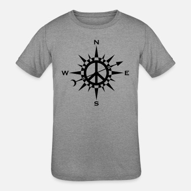 1peaceaday Peace Compass - Day 74 - Kids' Tri-Blend T-Shirt