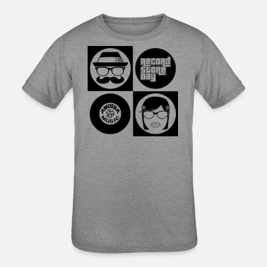 Record Hipsters Record - Kids' Tri-Blend T-Shirt