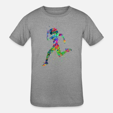 Sports Running woman, running, sport, woman sport - Kids' Tri-Blend T-Shirt