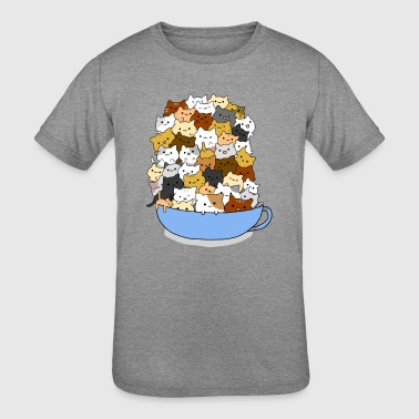 Full Cup Cats Colour - Kid's Tri-Blend T-Shirt