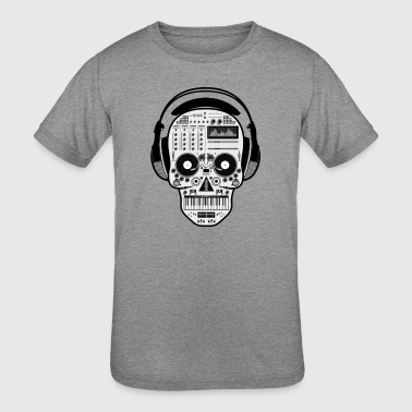rap music skeleton head - Kid's Tri-Blend T-Shirt