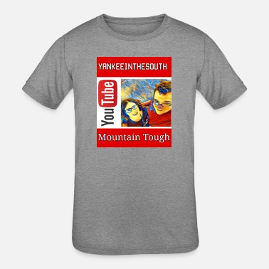 Straight out of the Mountains Tough Design - Kids' Tri-Blend T-Shirt