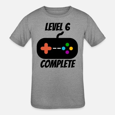 6th Birthday Level 6 Complete 6th Birthday - Kids' Tri-Blend T-Shirt