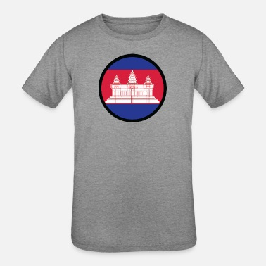 Krama Under The Sign Of Cambodia - Kids' Tri-Blend T-Shirt