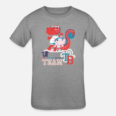 Team Dragon red dragon basket team baby girl - Kids' Tri-Blend T-Shirt