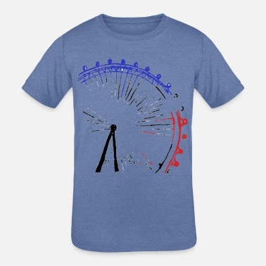 London Eye Colour - Kids' Tri-Blend T-Shirt