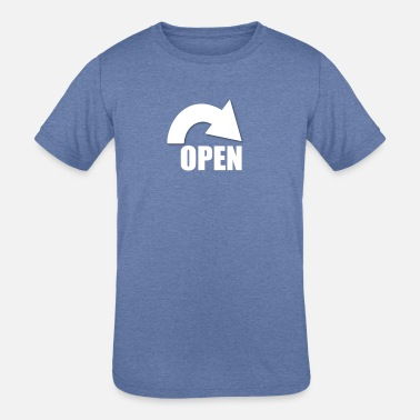 Opened open - Kids' Tri-Blend T-Shirt