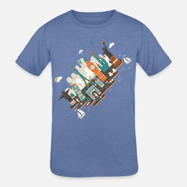 Inclined Tower A series of works everywhere I will - Kids' Tri-Blend T-Shirt