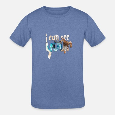 i can see your - Kids' Tri-Blend T-Shirt