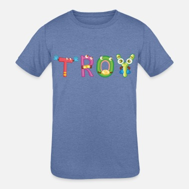 Troy Troy - Kids' Tri-Blend T-Shirt
