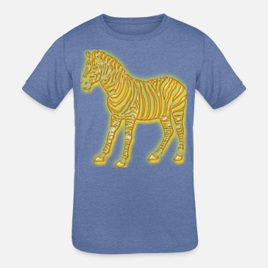 Zebra gold - Kids' Tri-Blend T-Shirt