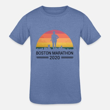 Boston 262 Miles 2020 Marathon Running Friend Supp - Kids' Tri-Blend T-Shirt
