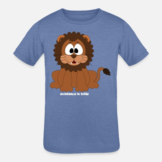 Play T-Shirts - lion existence - Kids' Tri-Blend T-Shirt heather Blue