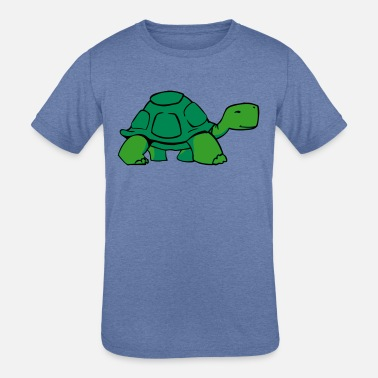 Slow Cool Slow Turtle Bro - Kids' Tri-Blend T-Shirt