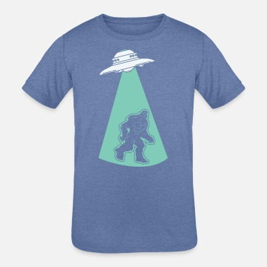 Hijacker UFO Alien Flying Saucer Abduction Hijacking Yeti - Kids' Tri-Blend T-Shirt