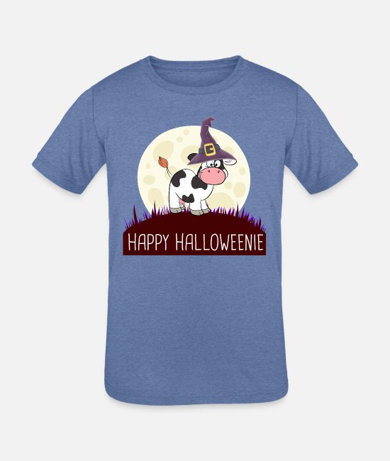Cowboy Boots T-Shirts - COW Happy Halloweenie gift i - Kids' Tri-Blend T-Shirt heather Blue
