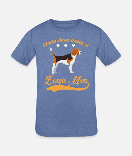 Quote T-Shirts - Kinda busy being BEAGLE MOM - Kids' Tri-Blend T-Shirt heather Blue