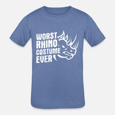 Horns Jokes Rhinoceros Design Quote Worst Rhino Costume - Kids' Tri-Blend T-Shirt