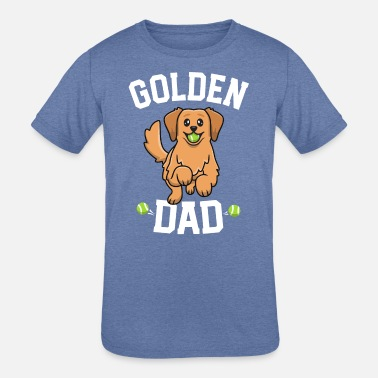 Cute Golden Retriever Golden Retriever Dad Shirt Dog Papa Dogfather - Kids' Tri-Blend T-Shirt