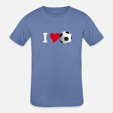 Sports i Love Soccer ball heart sport fan stadion club fu - Kids' Tri-Blend T-Shirt