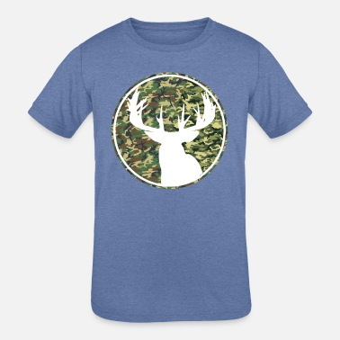 Deer Hunting Patch Deer Hunting Camouflage Patch 2 - Kids' Tri-Blend T-Shirt